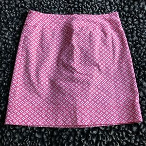Talbots pink and white dotted skirt size 8